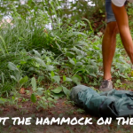 Start setting up a Lawson Hammock by rolling it out on the ground